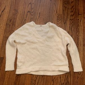 Cream sweater. Size S fits like M/L. Never worn